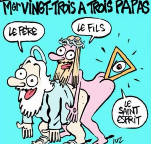 Charlie Hebdo uráží křesťany